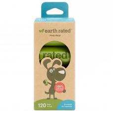 Earth Rated Eco-Friendly Poop Bags Scentless (120 pcs) - ekologiški bekvapiai išmatų maišeliai (120 vnt)