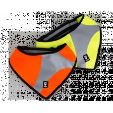 Hurtta Lifeguard Dazzle Safety Scarf - sviesą atspindinti skarelė, oranžinė