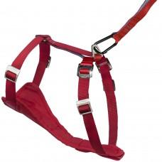 Kurgo Tru-Fit Smart Harness™ - petnešos su praplatėjimu krūtinės srityje, raudonos