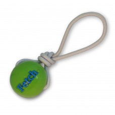 Planet Dog Orbee-Tuff® Fetch Ball With Rope - patvarus kamuoliukas su virve