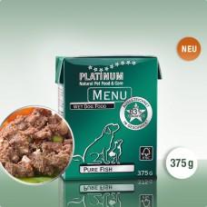Platinum Menu Pure Fish - natūralus begrūdis paštetas šunims su žuvimi, 375g