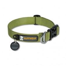 Ruffwear Hoopie™ Collar Forest Green - minkštas austinis besiūlis antkaklis, žalias