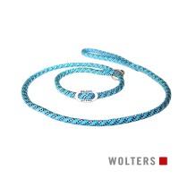Wolters Moxon-Leash Everest aqua/black - virvinis smaugiantis pavadėlis su atšvaitu, 180 cm, žydras