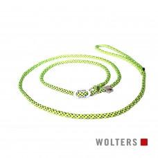 Wolters Moxon-Leash Everest yellow/black - virvinis smaugiantis pavadėlis su atšvaitu, 180 cm, geltonas