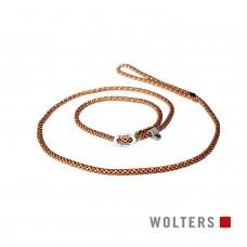 Wolters Moxon-Leash Everest orange/black - virvinis smaugiantis pavadėlis su atšvaitu, 180 cm, oranžinis