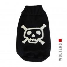 Wolters Knit Pullover Skull black/white - juodas megztinis su kaukole