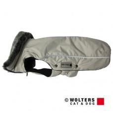 Wolters Winterjacket Amundsen beige-grau - šilta striukė su dirbtinio kailio apykakle, pilka