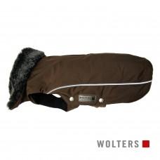 Wolters Winterjacket Amundsen kastanie - šilta striukė su dirbtinio kailio apykakle, ruda