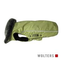 Wolters Winterjacket Amundsen lime-green - šilta striukė su dirbtinio kailio apykakle, šviesiai žalia