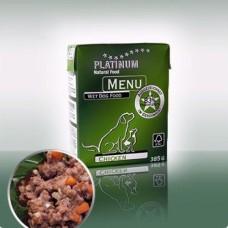 Platinum Menu Chicken - natūralus drėgnas paštetas šunims su vištiena, 375g